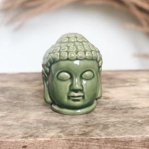 Anthropologie Green Buddha Zen Head Ceramic Decor